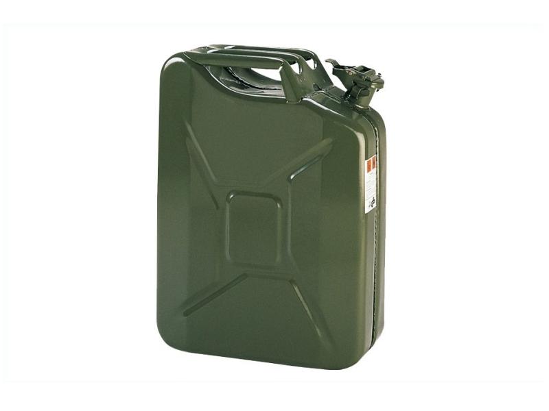 Bidon à essence 20 litres tôle en acier vert olive | prix canon
