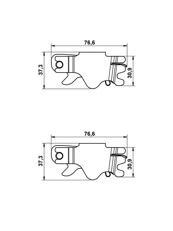 Image du produit pour Kit d'accessoires, mâchoires de frein de stationnement