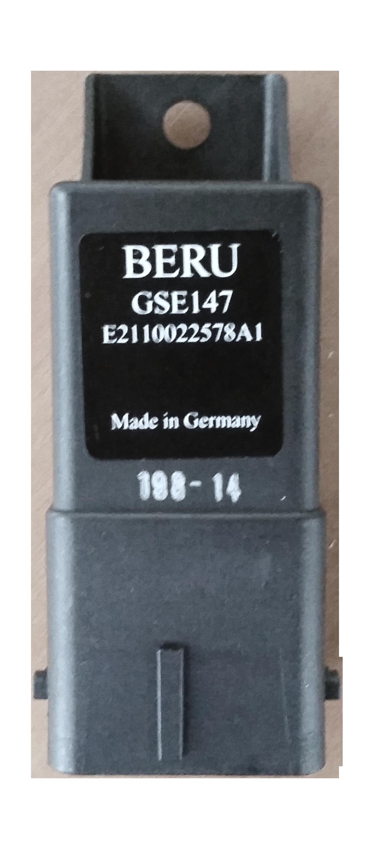 Appareil de commande, temps de préchauffage | BORGWARNER (BERU)