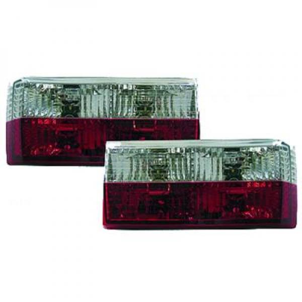 Feux arrière transparents rouge / chromé | DIEDERICHS