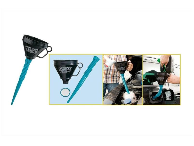 Entonnoir avec tuyau flexible   HAZET