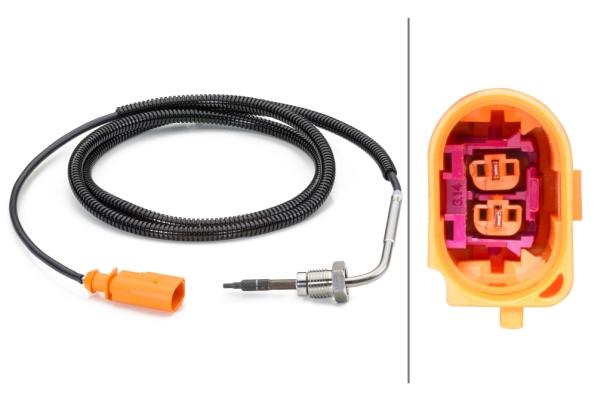 Capteur, température des gaz   HELLA
