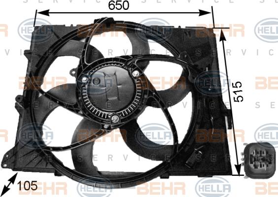 Ventilateur, refroidissement du moteur | HELLA