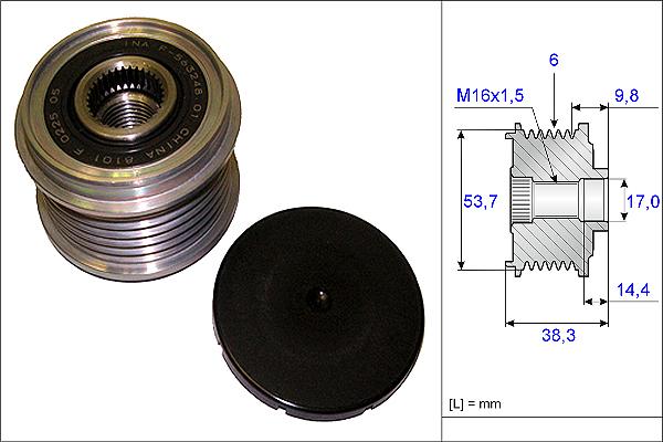 Umlenkrollen pour courroies trapézoïdales//Ø Poulie intérieure = 101 mm//Ø Poulie a