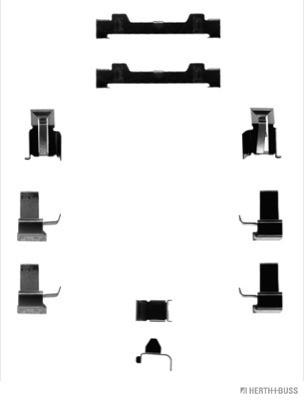 Kit d'accessoires, plaquette de frein à disque   HERTH+BUSS JAKOPARTS