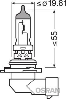 Ampoule HB4 Original 55W [12V] (1 pièce) | OSRAM