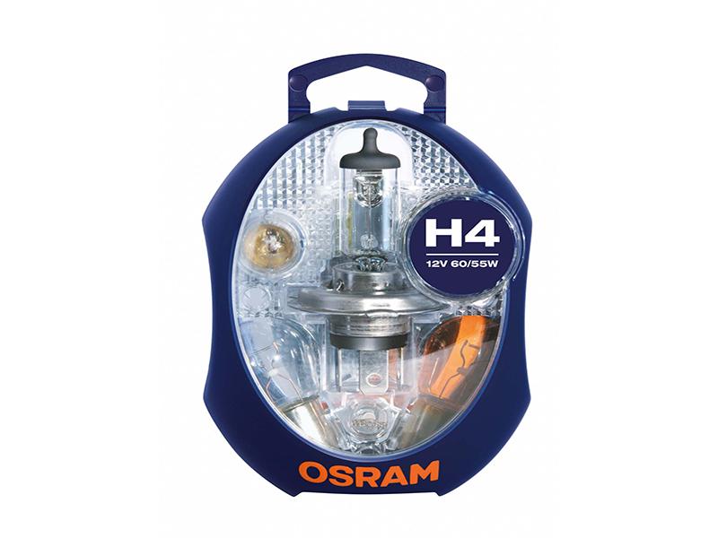 Boîte de lampe de rechange H4 60/55 W [12 V] (1 jeu)   OSRAM