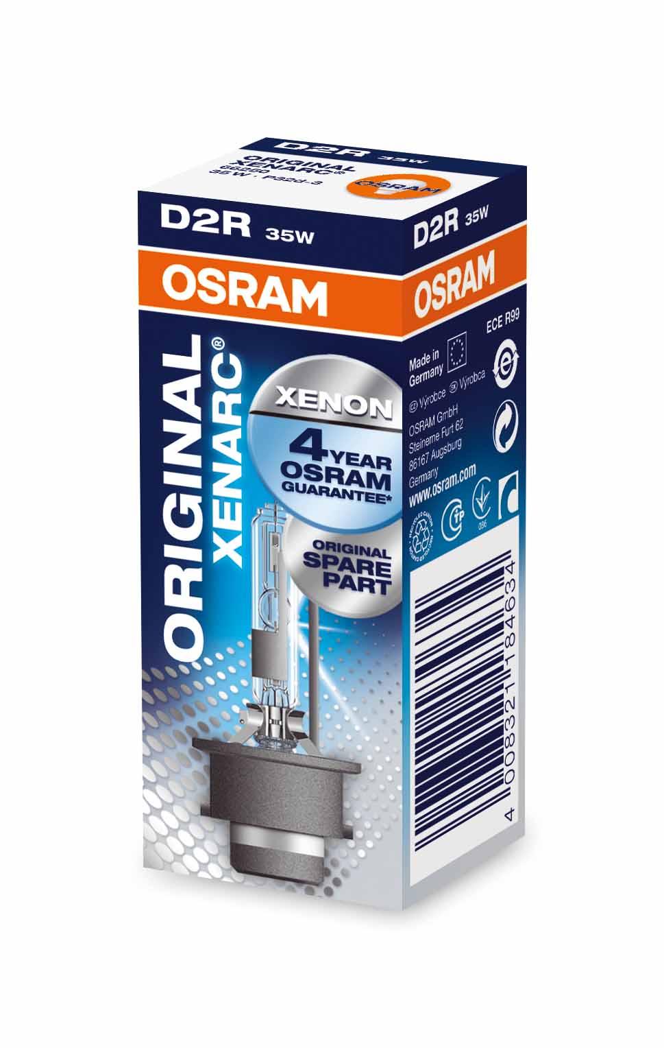 Brûleur Xenon D2R Xenarc® 35W [12V] (1 pièce) | OSRAM