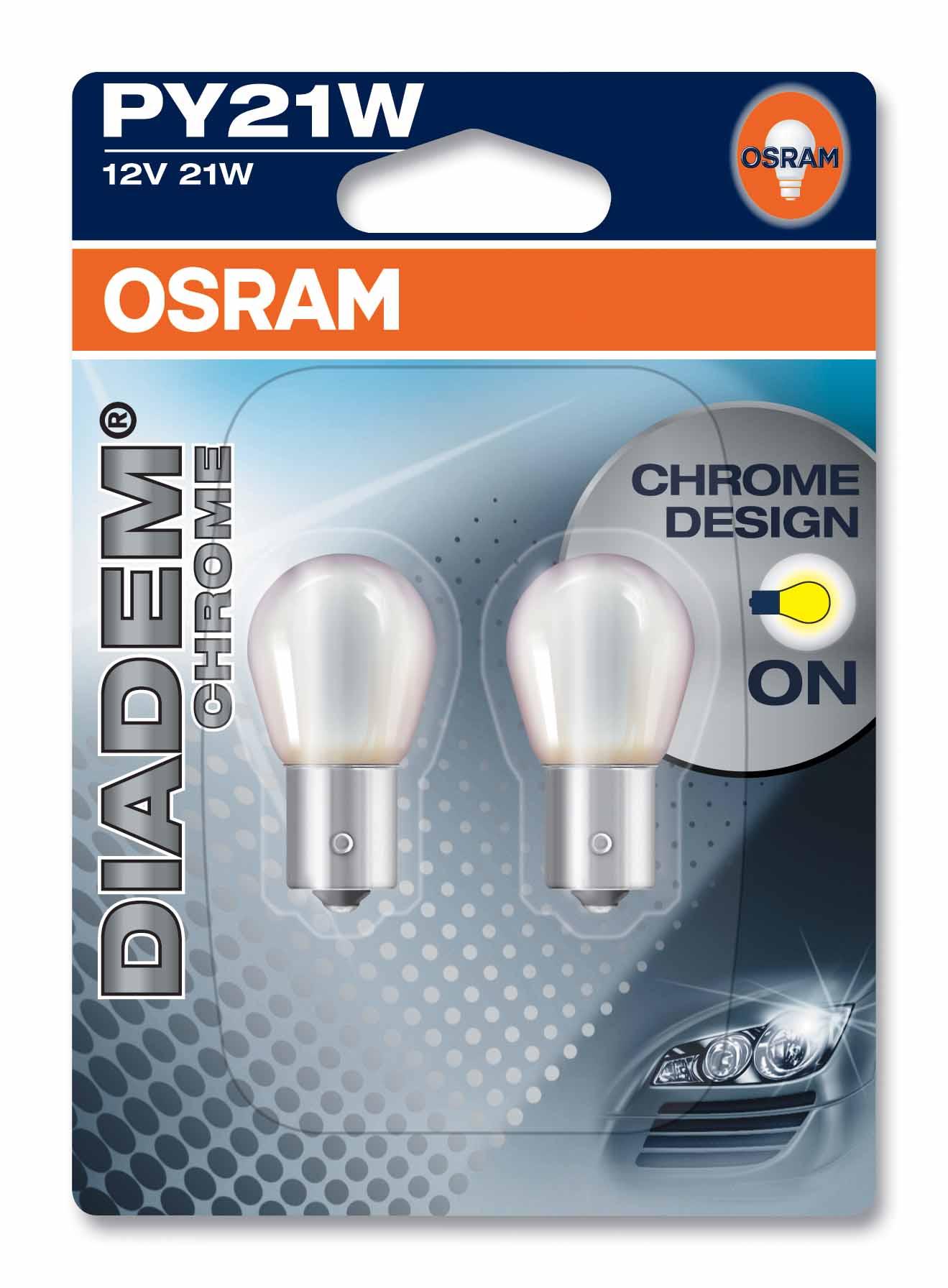 Ampoule PY21W Diadem® Chrome 21W [12V] (2 pièces) | OSRAM