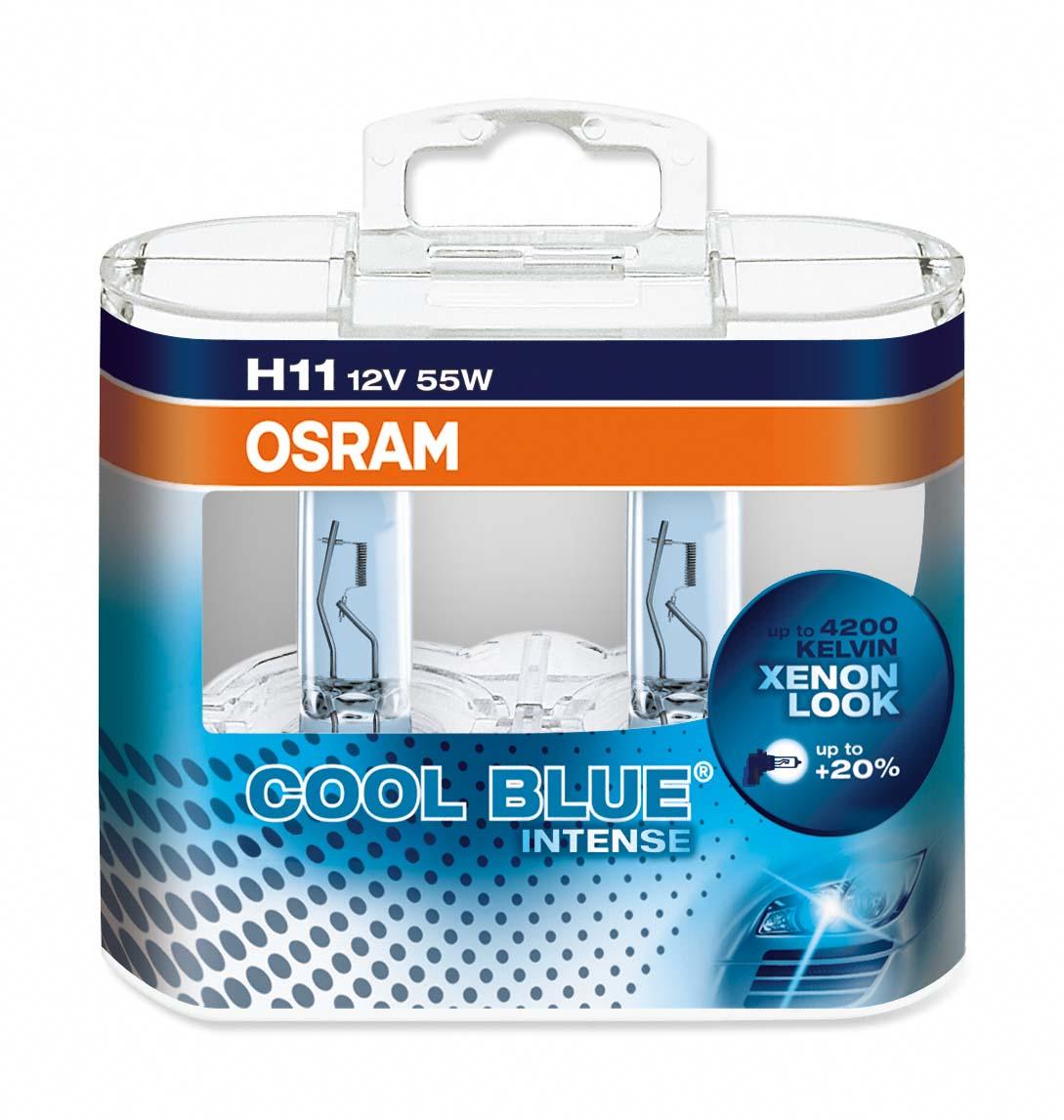 Ampoule H11 Cool Blue®Intense 55W [12V] (2 pièces) | OSRAM