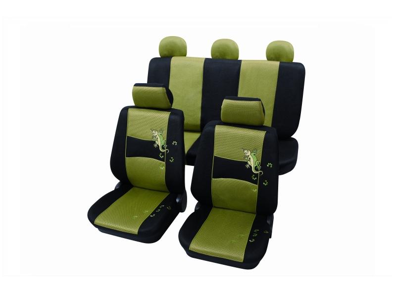Housses de siège universelles vertes, polyester | PETEX
