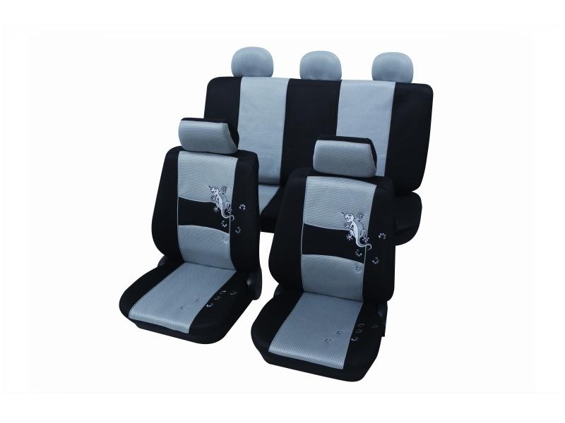 Housses de siège universelles grises, polyester | PETEX
