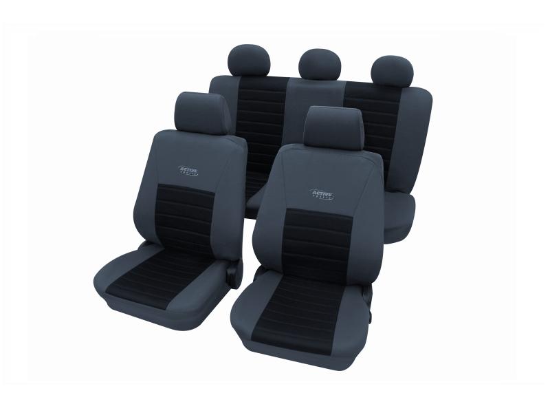 Housses de siège universelles noires, polyester | PETEX