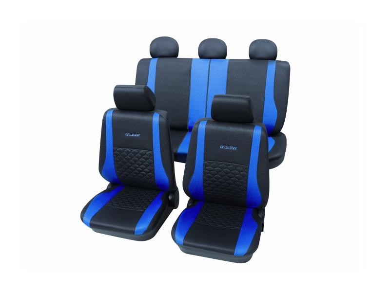 Housses de siège universelles bleues, polyester | PETEX