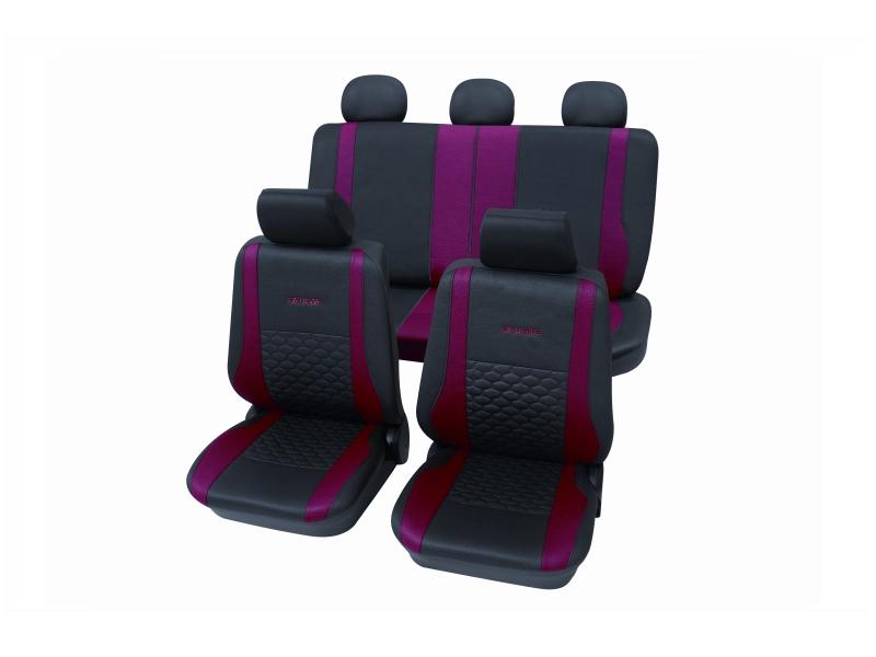 Housses de siège universelles rouges, polyester | PETEX