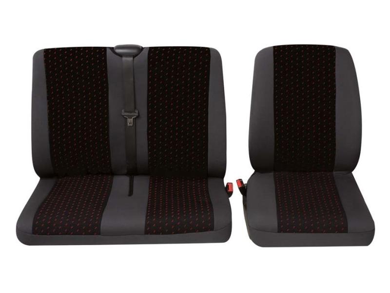 Housse de sièges universelle pour camionnettes, rouge | PETEX