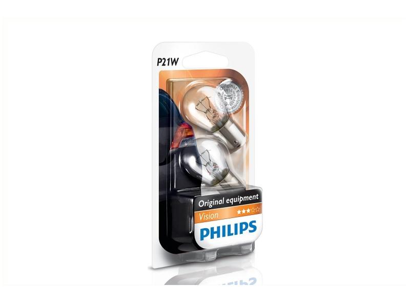Ampoule P21W [12 V] (2 pcs.) | PHILIPS