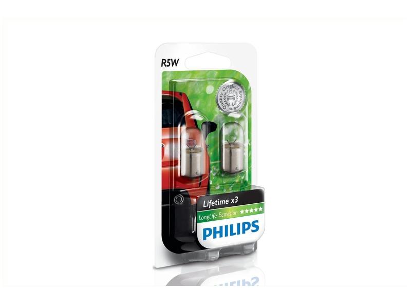 Ampoule R5W LongLife Ecovision [12 V] (2 pcs.) | PHILIPS