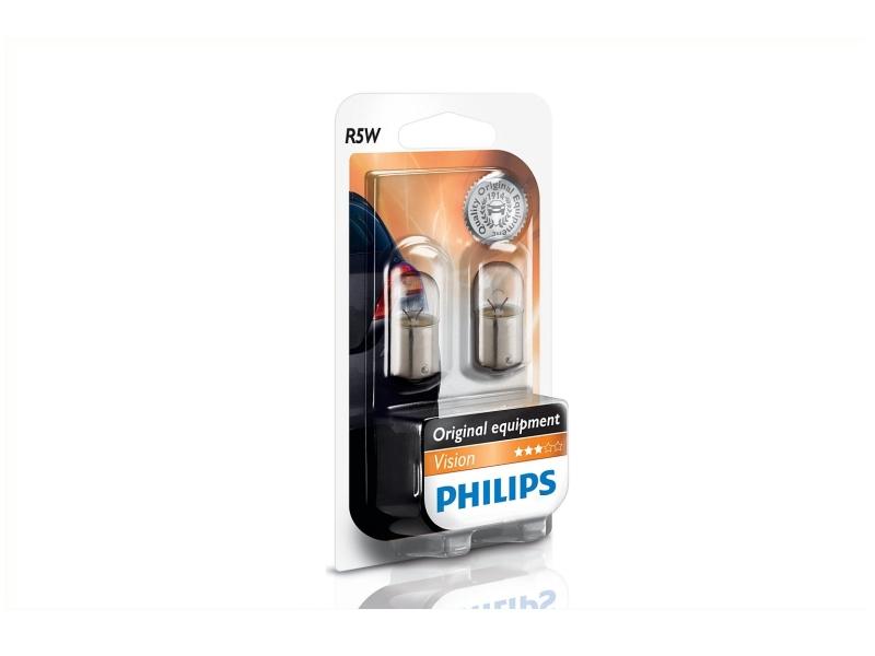 Ampoule R5W BA15s [12 V] (2 pcs.)   PHILIPS