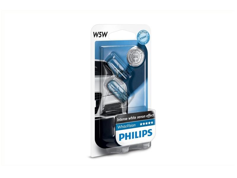 Culot en verre W5W WhiteVision [12 V] (2 pcs.)   PHILIPS