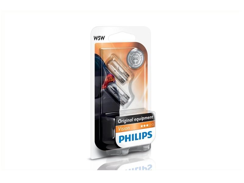 Culot en verre W5W [12 V] (2 pcs.)   PHILIPS