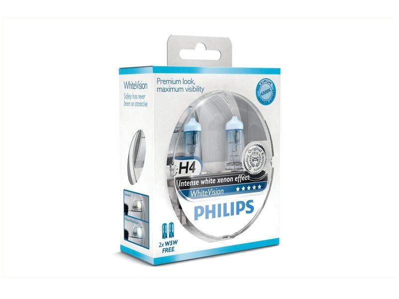 Ampoule H4 WhiteVision 60/55 W [12 V] (2 pcs.)   PHILIPS