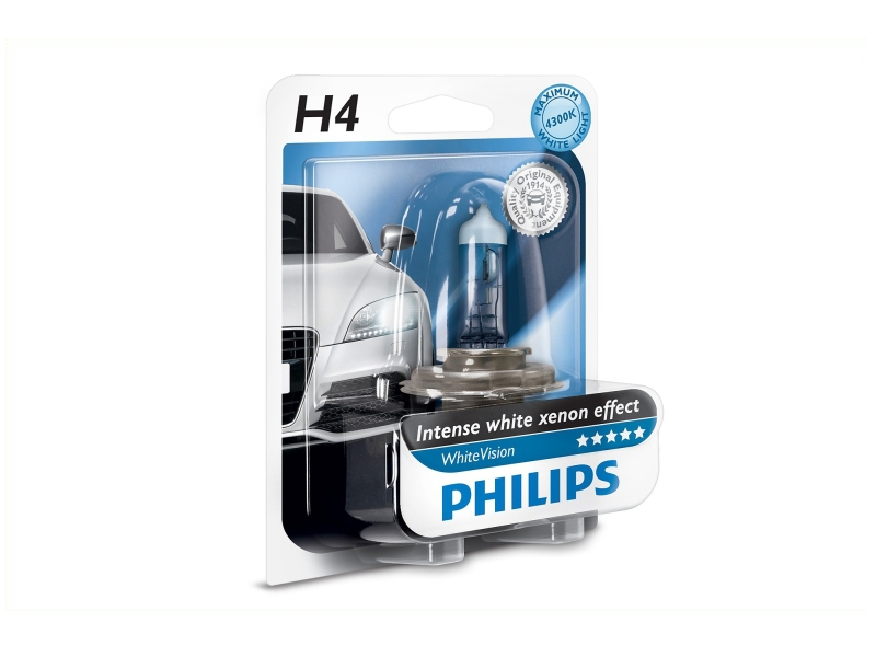 Ampoule H4 WhiteVision 60/55 W [12 V] (1 pc.) | PHILIPS