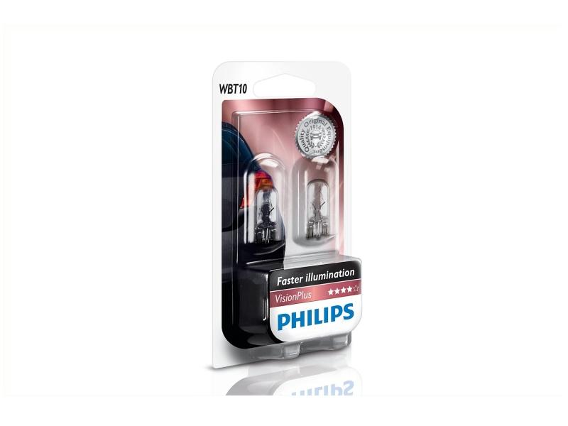 Culot en verre WBT10 6 W [12 V] (2 pcs.) | PHILIPS