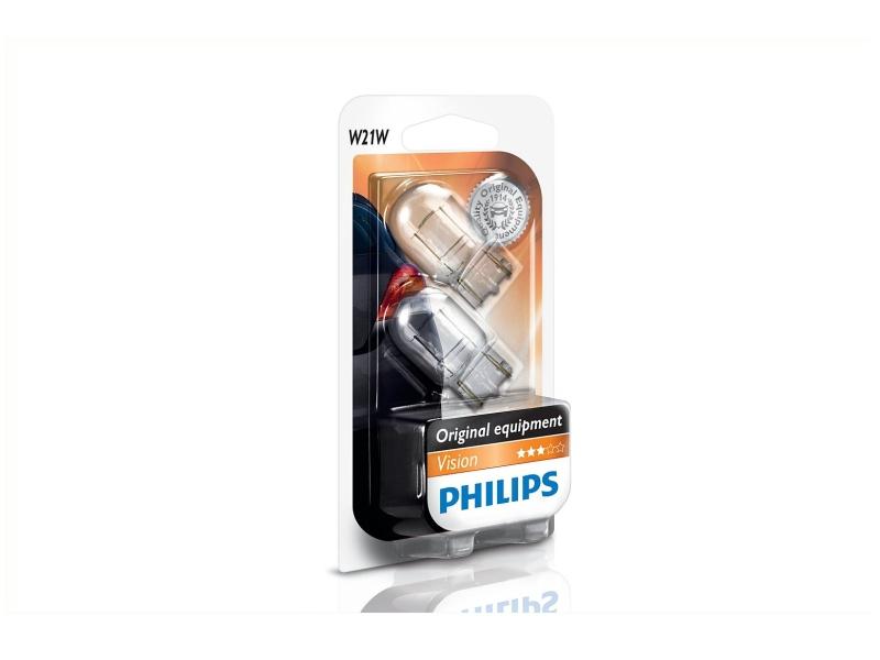 Culot en verre W21W [12 V] (2 pcs.) | PHILIPS