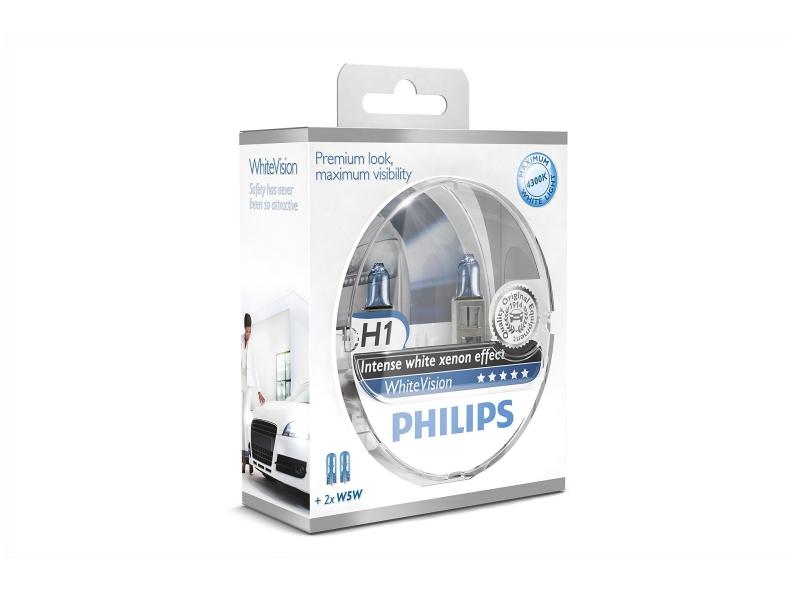 Ampoule H1 WhiteVision 55 W [12 V] (2 pcs.) | PHILIPS