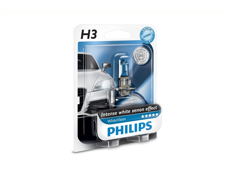 Ampoule H3 WhiteVision 55 W [12 V] (1 pc.)   PHILIPS