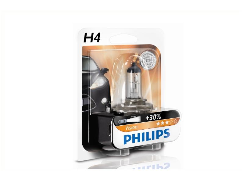 Ampoule H4 Vision 60/55 W [12 V] (1 pc.) | PHILIPS