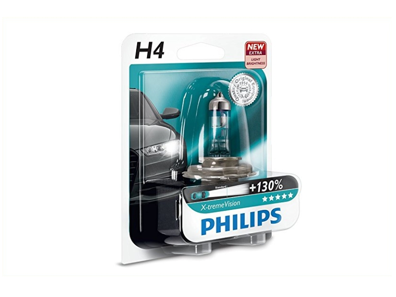 Ampoule H4 X-tremeVision + 60/55 W [12 V] (1 pc.) | PHILIPS