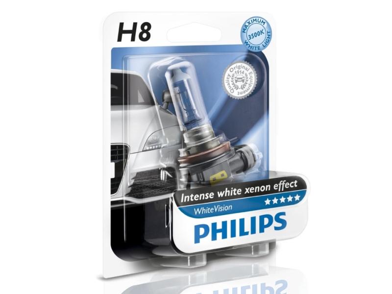 Ampoule H8 White Vision 35 W [12 V] (1 pc.) | PHILIPS