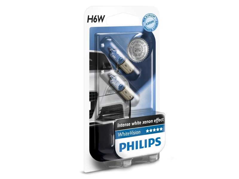 Ampoule White Vision [12 V] 6 watts (2 pcs.) | PHILIPS