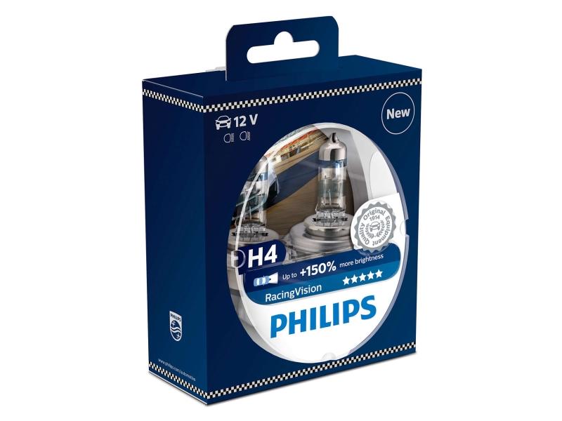 Ampoule H4 RacingVision 60/55 W [12 V] (2 pcs.) | PHILIPS