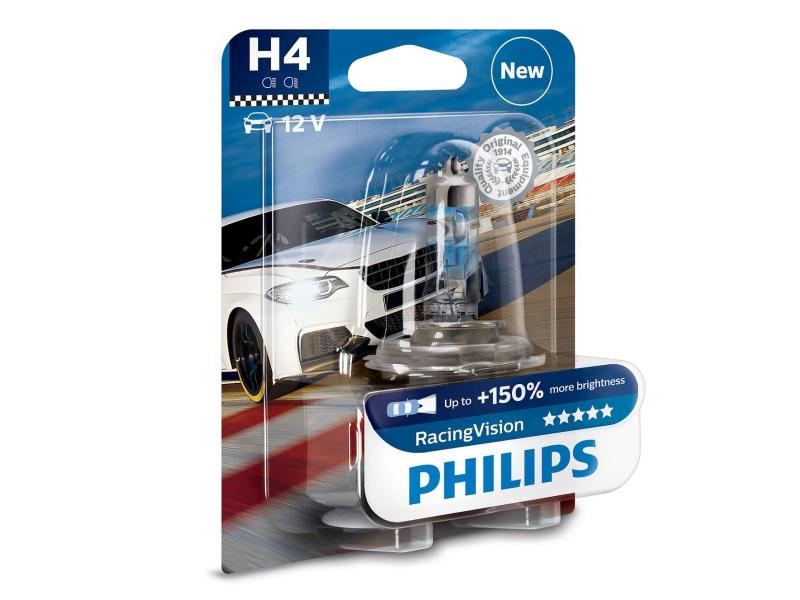 Ampoule H4 RacingVision 60/55 W [12 V] (1 pc.) | PHILIPS