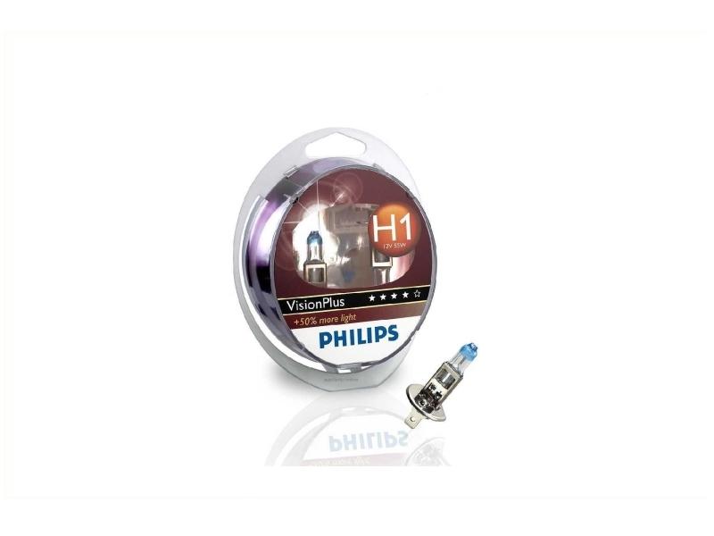 Ampoule H1 Vision Plus 55 W [12 V] (2 pcs.) | PHILIPS