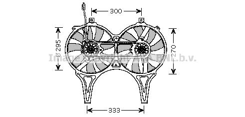 Ventilateur, refroidissement du moteur   PRASCO