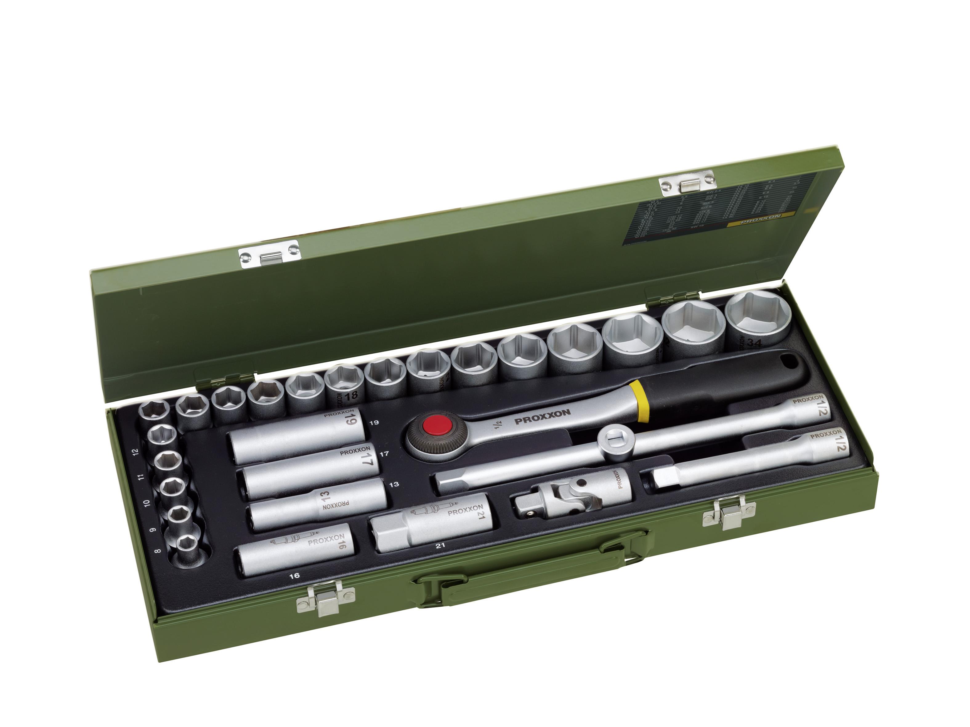 Kit clés à douille 1/2 pouce (29 pces) | PROXXON