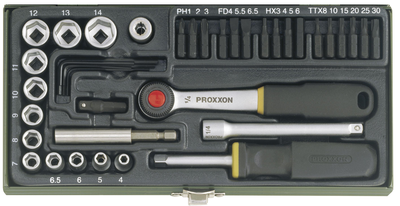 Kit tournevis 1/4 pouce (38 pces) | PROXXON