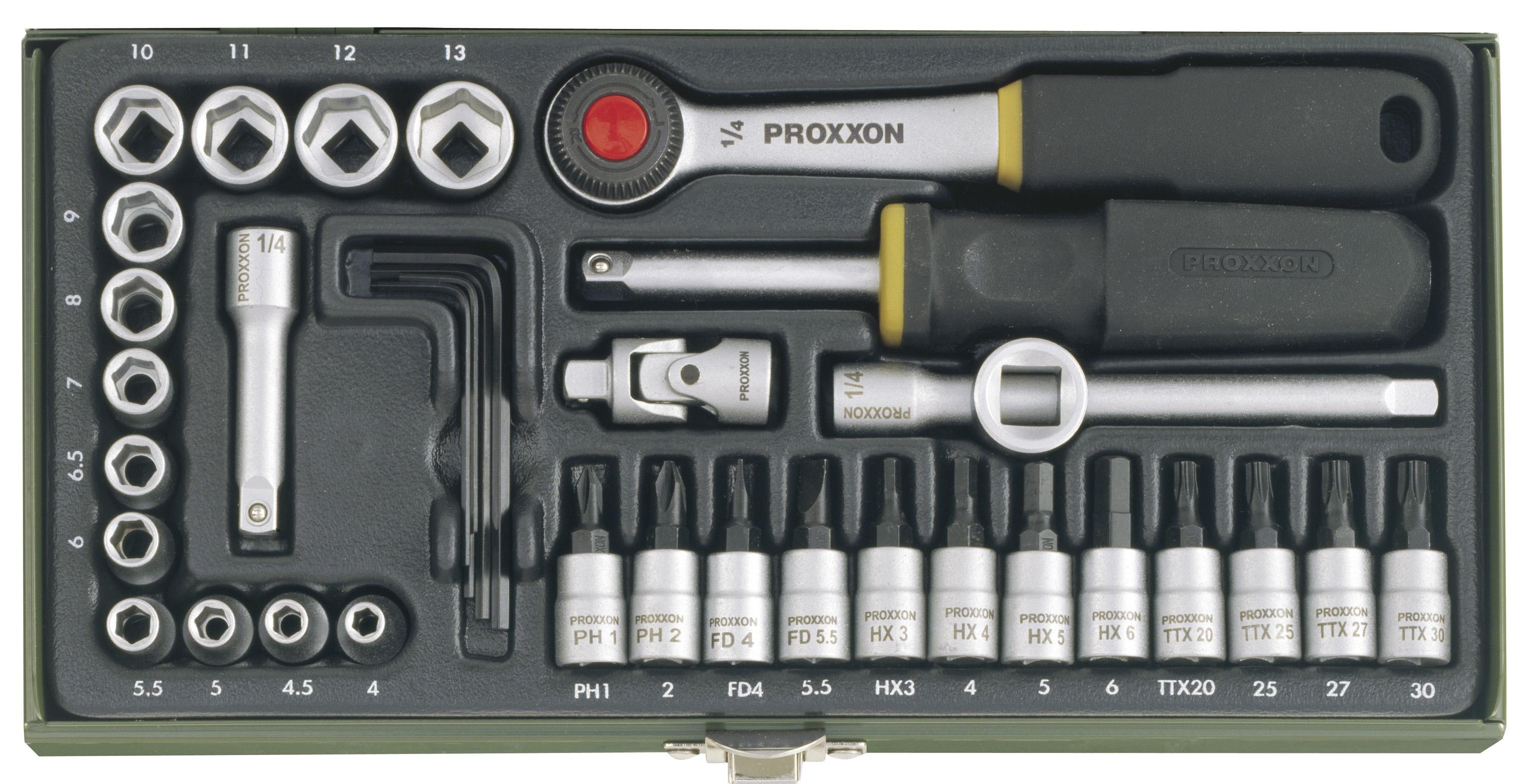 Lot de clés à douille 1/4 pouce (36 pces) | PROXXON