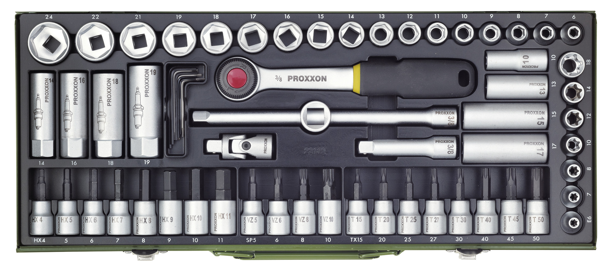 Lot compact Super 3/8 pouce (65 pces) | PROXXON