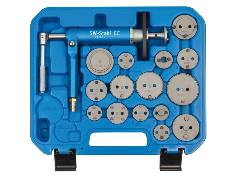 Outil de réarmement du piston de frein avec broche à air comprimé (16 pcs)   SWSTAHL