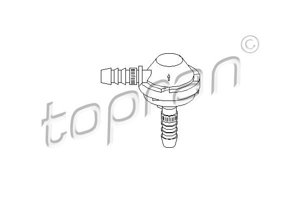 Valve, contrôle d'air-air d'admission   TOPRAN