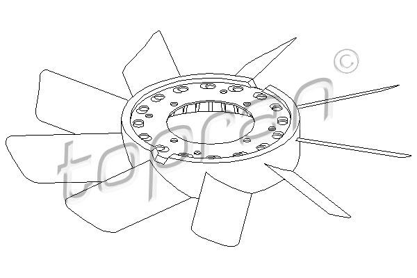 Roue du souffleur, refroidissementdu moteur   TOPRAN