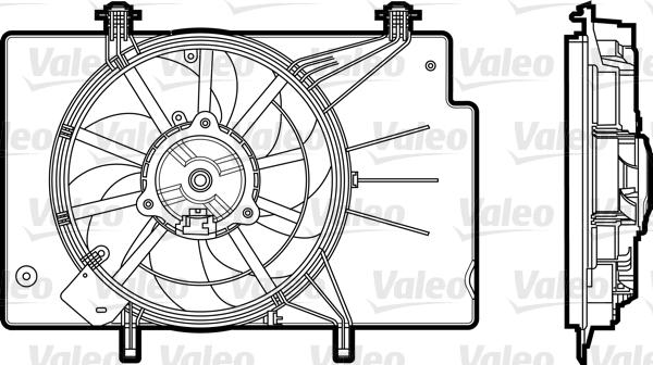 Ventilateur, refroidissement du moteur   VALEO