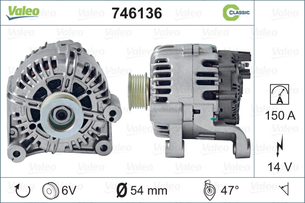 Alternateur REMANUFACTURED CLASSIC | VALEO