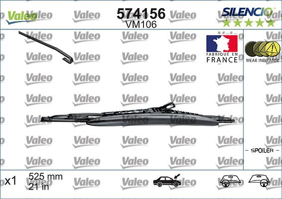 Balai d'essuie-glace SILENCIO CONVENTIONAL SINGLE | VALEO