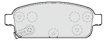 Kit de plaquettes de frein, frein à disque FIRST | VALEO